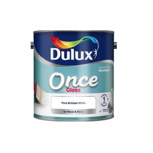Dulux Once Gloss Paint 1.25L Pure Brilliant White