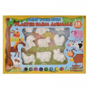 Paint Your Own Plaster Farm Animals (15 Piece)