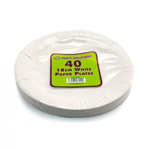 PPS 18cm Paper Plates (40 Pack) White