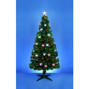 Premier LED Tree With Red, Blue & Green Parcels 180cm