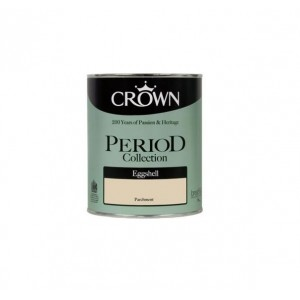 Crown Period Colours Eggshell Paint 750ml Parchment