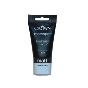 Crown Emulsion Paint Tester Pot 40ml Powder Blue (Matt)