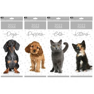 2022 Slim Calendar Animals