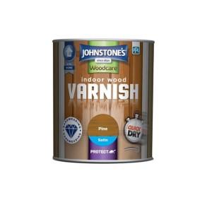 Johnstones Quick Drying Indoor Wood Varnish 750ml Pine Satin