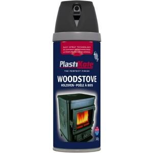 PlastiKote Wood Stove Spray Paint 400ml Black 400ml