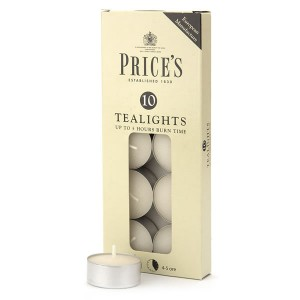Price's White Tealights (10 Pack)
