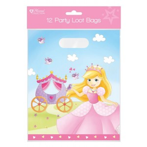 Home Collection Princess Party Loot Bags (12 Pack)