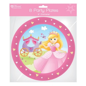 Home Collection Princess Party Plates (8 Pack)
