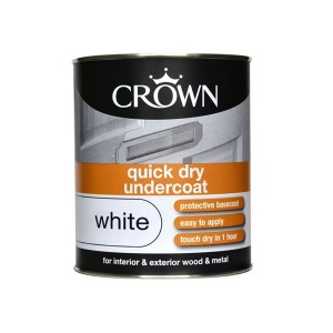 Crown Quick Dry Undercoat 750ml Pure Brilliant White