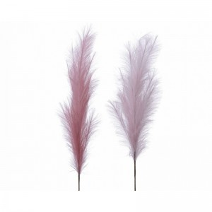 Nylon Pampas Plume on Stem 130cm Pink Assorted