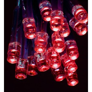 Premier Battery Operated Red LED Bulb Lights (20 Lights)