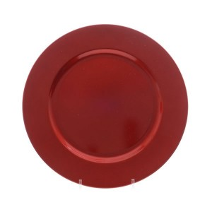 Kaemingk Glitter Decoration Plate 33cm Red