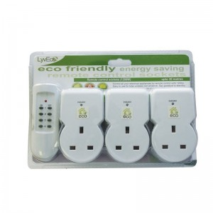 Lyvia Remote Control Sockets Pack of 3