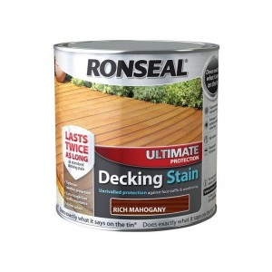 Ronseal Ultimate Protection Decking Stain 2.5L Rich Mahogany