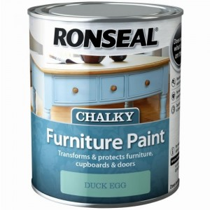 Ronseal Chalky Furniture Paint 750ml Duck Egg