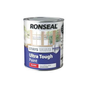 Ronseal Stays White Ultra Tough Gloss Paint 750ml White