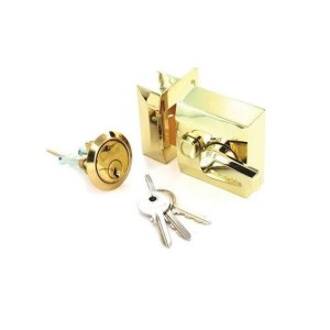 Securit S1730 Polished Brass Double Locking Nightlatch (Standard)