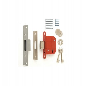 Era 5 Lever Satin Mortice Deadlock 64mm