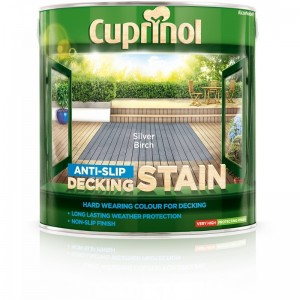 Cuprinol Anti Slip Decking Stain 2.5L Silver Birch