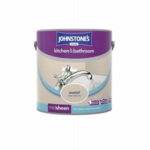 Johnstones Kitchen & Bathroom Paint 2.5L Sea Shell (Mid-sheen)