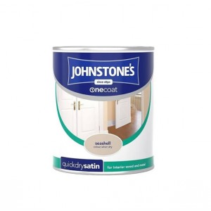 Johnstones One Coat Satin Paint 750ml Seashell