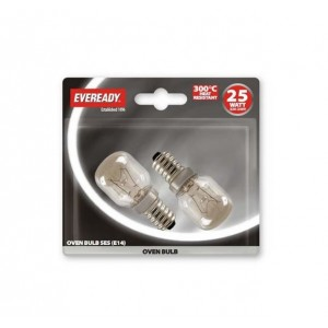 Eveready 25W SES Oven Bulbs (2 Pack)