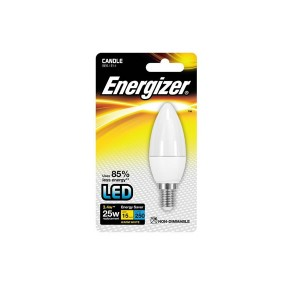 Energizer 3.4W SES Warm White LED Candle Bulb