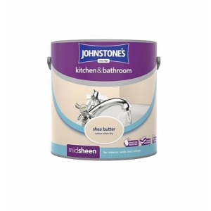 Johnstones Kitchen & Bathroom Paint 2.5L Shea Butter (Mid-sheen)