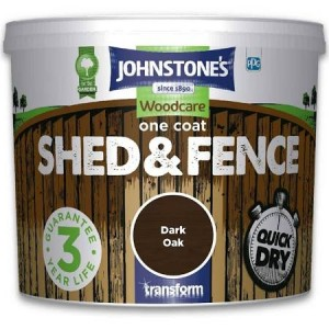 Johnstones One Coat Shed & Fence Paint 5L Dark Oak