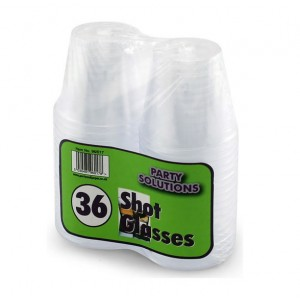 PPS Plastic Shot Glasses (36 Pack)