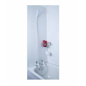 Croydex Bath & Shower Set White