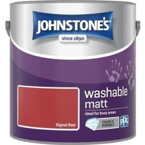 Johnstones Washable Emulsion Paint 2.5L Signal Red Matt