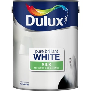 Dulux Emulsion Paint 3L Pure Brilliant White (Silk)