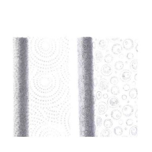 Kaemingk Organza Decoration Fabric 35 x 300cm Silver