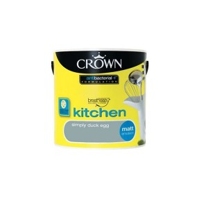 Crown Kitchen Paint 2.5L Simply Duck Egg (Matt)