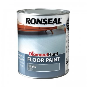 Ronseal Diamond Hard Floor Paint 750ml Slate Satin