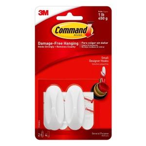 Command 3M Small Designer Hooks 17082