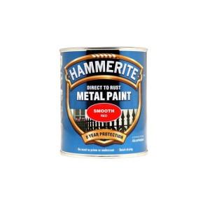 Hammerite Metal Paint 250ml Smooth Red