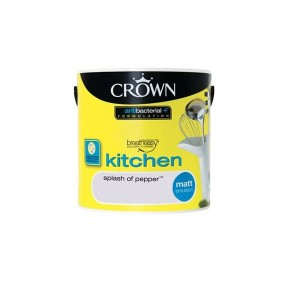 Crown Kitchen Paint 2.5L Splash of Pepper (Matt)