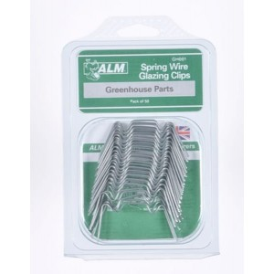 ALM Greenhouse Spring Wire Glazing Clips (50 Pack)