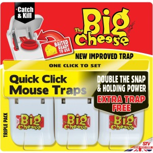 The Big Cheese Quick Click Mouse Trap (3 Pack)