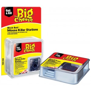 The Big Cheese All Weather Block Bait Mouse Killer Station (2 Pack)