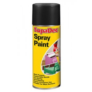 Supadec Spray Paint 400ml Black Gloss