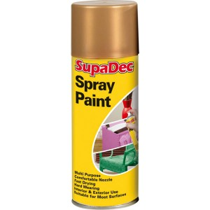 Supadec Spray Paint 400ml Gold Gloss