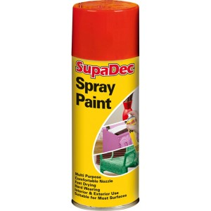 Supadec Spray Paint 400ml Red Gloss