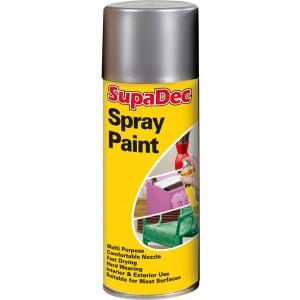 Supadec Spray Paint 400ml Silver Gloss