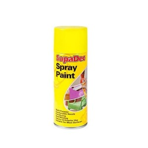 Supadec Spray Paint 400ml Yellow Gloss