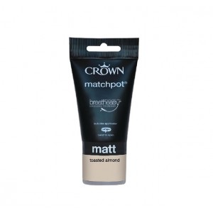 Crown Emulsion Paint Tester Pot 40ml Toasted Almond (Matt)