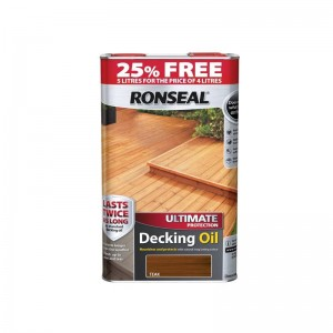 Ronseal Ultimate Protection Decking Oil 4L (+ 25% Free) Teak