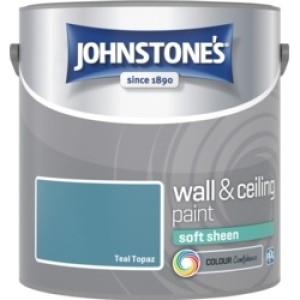Johnstones Vinyl Emulsion Paint 2.5L Teal Topaz Soft Sheen